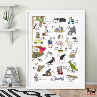 Will & Ruby ABC-Poster mit Tieren A2